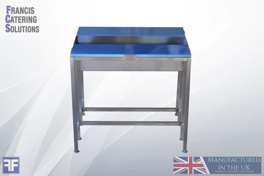 Fish mongers filleting cutting table bench stainless steel sea and salmonfishing